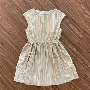 Crewcuts Gold Lame Girls Party Dress 6